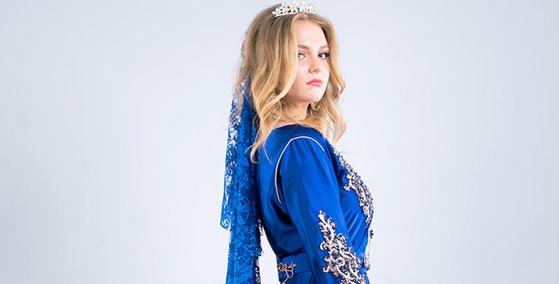 Caftan bleu - www.orientaletendance.com